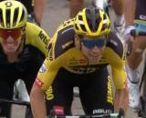 La vittoria di Wout van Aert nella prima tappa del Giro del Delfinato.