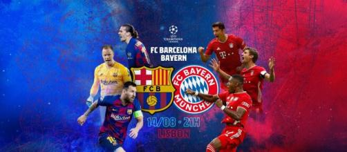 Barcelona e Bayern de Munique se enfrentam nas quartas de final da UEFA Champions League. (Arquivo Blasting News)