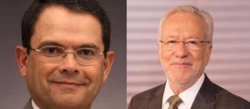 Sidney Rezende (esquerda) e Alexandre Garcia estão no quadro 'Liberdade de Opinião' da CNN Brasil. (Arquivo Blasting News)
