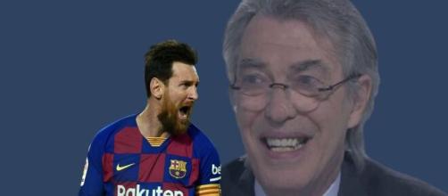 Massimo Moratti parla dell'Inter e di Messi.