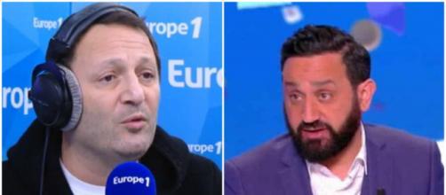 Arthur et Cyril Hanouna s'écharpent sur Twitter. Credit: Europe 1/C8 Capture