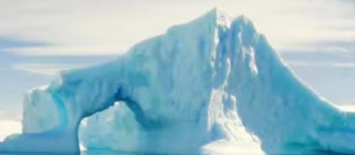 NASA is tracking ice melt of Greenland. [Image source/Great Big Story YouTube video]