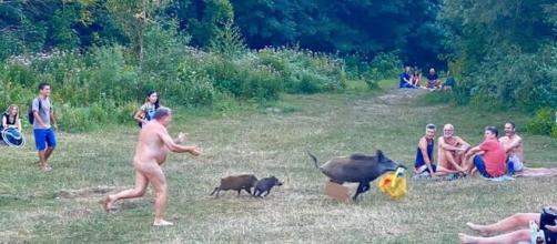 Les images capturées par une allemande présente sur les lieux ont fait le tour du Web, source : capture Facebook - Adele Landauer