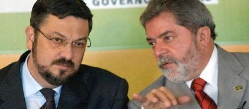 Palocci e Luiz Inácio Lula da Silva. (Arquivo Blasting News)