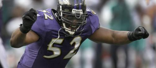 Ray Lewis was a dominant linebacker for the Ravens after starring with Miami. [Image Source: Flickr | Atlanta Falcons]
