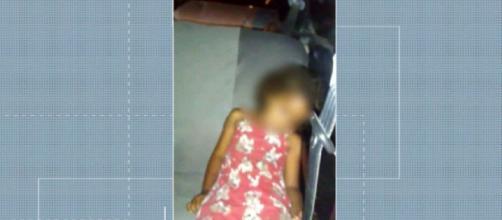 A menina estava com a avó quando foi esquecida dentro do carro. (Reprodução/TV Globo)