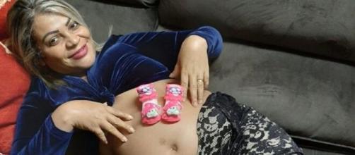 Mãe teve bexiga perfurada durante o parto. (Arquivo Pessoal)