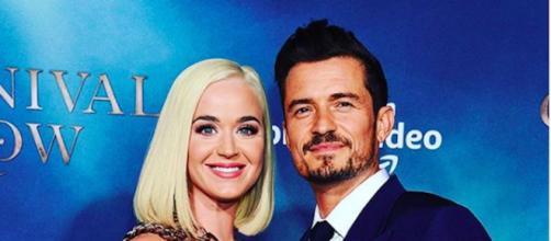 Katy Perry enceinte d'Orlando Bloom. Credit : Instagram/orlandobloom