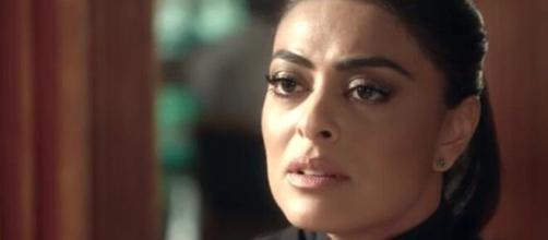Carolina joga a culpa de crime contra Eliza em Leila. (Arquivo Blasting News)