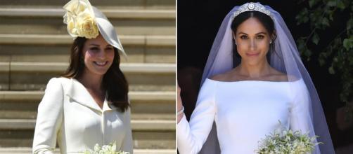 Kate no quiso opacar a Meghan Markle en su boda con su look