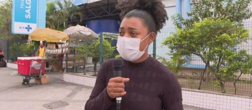 A moça foi até o hospital e descobriu que o pai tinha morrido há quase dois meses. (Reprodução/TV Globo)