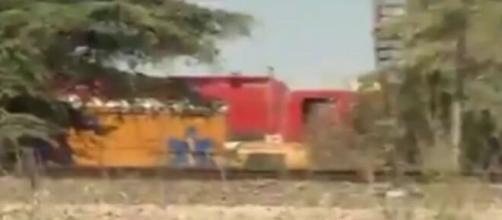 Tren descarrilado en Vicálvaro