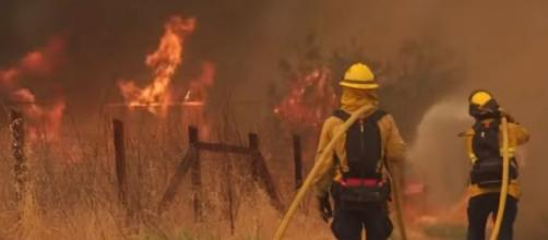 Northern California wildfires evening update August 19, 2020. [Image source/ABC10 YouTube video]