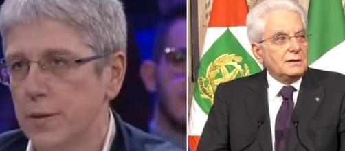 Mario Giordano e Sergio Mattarella.