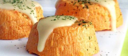 Timballi carote e pastinaca, deliziosi come antipasto.