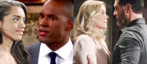 Beautiful, trame Usa: Ridge ascolta Brooke dire a Bill che lo ama, Carter bacia Zoe.