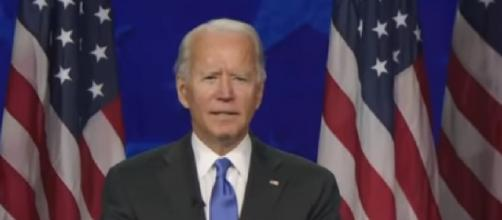Full speech of Joe Biden at the 2020 DNC. [Image source/NBC News YouTube video]