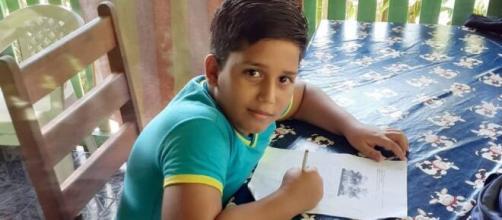 Descarga elétrica em celular tirou a vida do menino Matheus Macedo Campos, de 11 anos. (Arquivo pessoal)