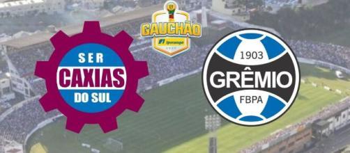Caxias x Grêmio: transmissão ao vivo nesta quarta (26), às 21h30. (Fotomontagem)
