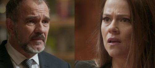 Lili e Germano ficarão sabendo que filha é mau-caráter em 'Totalmente Demais'. (Reprodução/ TV Globo).