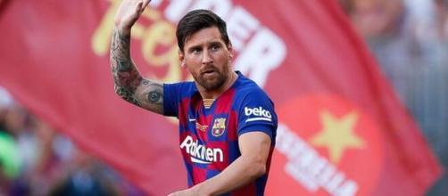 O meia-atacante e capitão do Barcelona, Messi, está deixando o clube. (Arquivo Blasting News)