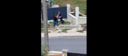 Les images filmées par un témoin de la scène ont ensuite été partagées sur les réseaux sociaux, source : capture - Twitter