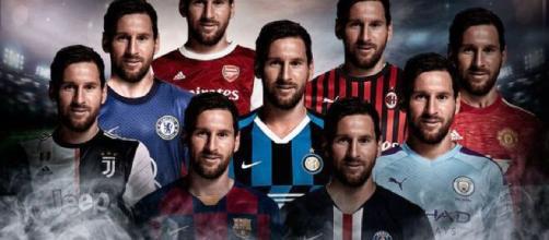 Todas las camisetas, todas. Los clubes de fútbol se ilusionan con el ya ex capitán del FC Barcelona, Lionel Messi.