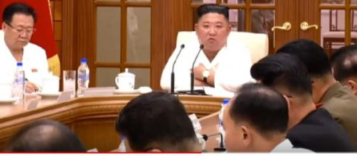 Kim presides over party meeting in North Korea as health speculation swirls. [Image source/INQUIRER.net YouTube video]