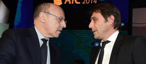 Il direttore Marotta con Antonio Conte.