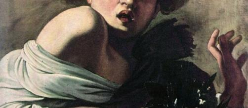 Caravaggio, 'Ragazzo morso da un ramarro'.