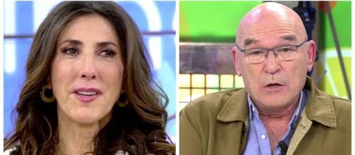 La presentadora Paz Padilla y Tino Torrubiano.