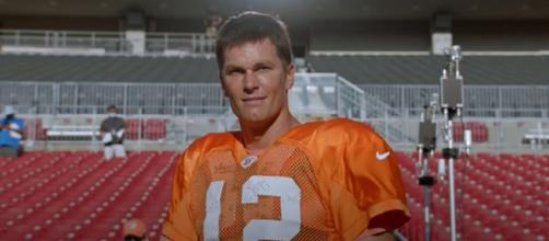 Brady was drafted 199th overall by the Patriots in 2000. [Image Source: Tampa Bay Buccaneers/YouTube]