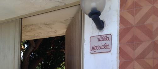 Villa Maricla a Spadafora, Messina, all'interno della quale questa notte attorno alle 4:20 si è consumato il delitto.