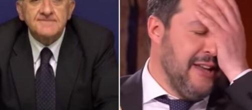 Vincenzo De Luca e Matteo Salvini.