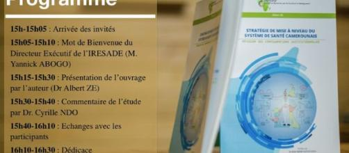 L'ouvrage du Dr Albert Ze : Stratégie de mise à niveau du système de santé camerounais (c) Albert Ze