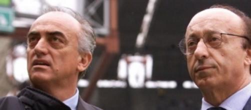 Nella foto Giraudo e Moggi, ex dirigenti della Juventus.