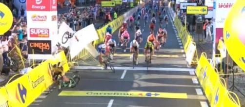 La brutta caduta avvenuta al Giro di Polonia