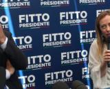 Raffaele Fitto e Giorgia Meloni, per Tecnè il candidato del centrodestra sarebbe davanti a Emiliano.