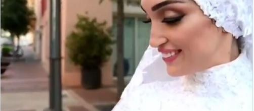 Beirut esplosione, il video della sposa travolta.