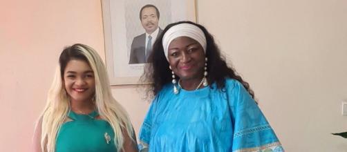 Le Député Nourane Fotsing et Célestine Ketcha Courtes, Ministre de l'Habitat et du Développement Urbain (c) Nourane Fotsing