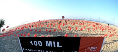 Coronavírus: ONG faz ato em Copacabana pelos quase 100 mil mortos. (Arquivo Vlasting News)