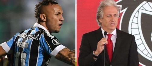 Everton Cebolinha foi um pedido particular de Jorge Jesus na chegada ao Benfica. (Arquivo Blasting News)