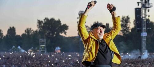 Vasco Rossi durante il concerto di Modena Park nel 2017