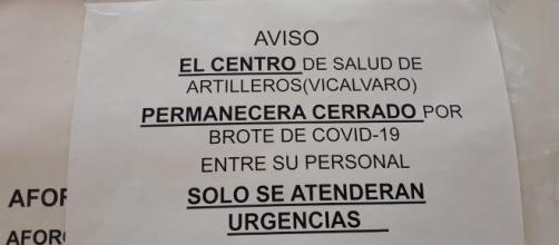 El centro de salud de Artilleros de Vicálvaro cierra por un brote en el personal
