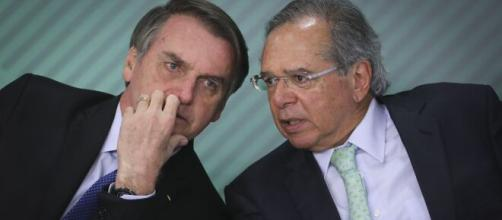 Presidente Jair Bolsonaro e ministro Paulo Guedes. (Arquivo Blasting News)