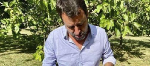 Matteo Salvini aggredito a Pontassieve.