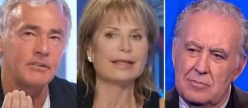 Massimo Giletti, Lilli Gruber e Michele Santoro.