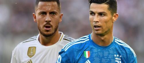 O belga Eden Hazard e o português Cristiano Ronaldo estão entre as contratações mais caras do futebol europeu. (Arquivo Blasting News)