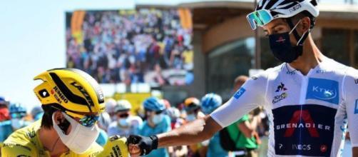 Primoz Roglic e Egan Bernal al Tour de France.