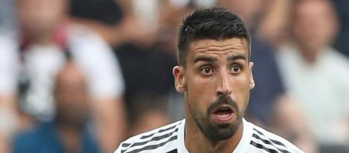 Sami Khedira, centrocampista della Juventus.